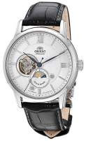 Orient Men's 'Sun and Moon Open Heart' Japanese Automatic / Hand-Winding Watch with Sapphire Crystal
