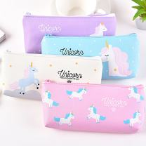 Pen Pencil Case Durable Stationery Multifunction PU Cosmetic Makeup Pouch Bag,Cute Unicorn Design,Set of 4