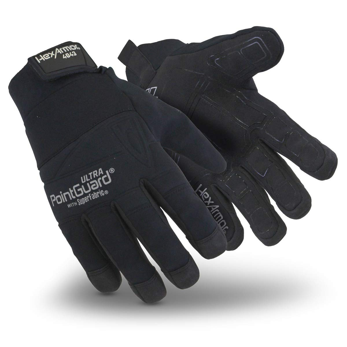 HexArmor PointGuard Ultra 4043 Black Needle Resistant Search Gloves for Police and Law Enforcement, Small