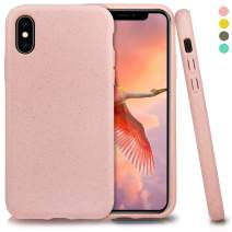 Inbeage Biodegradable iPhone X/Xs Phone Case,Eco-Friendly,Durable,Slim (Baby Pink)