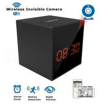 LIZVIE HD Wireless WiFi Spy Hidden Clock Camera- Auto Night Vision Camera,Motion Detection Invisible Cam,Home Security Monitor Alarm Clock Camera