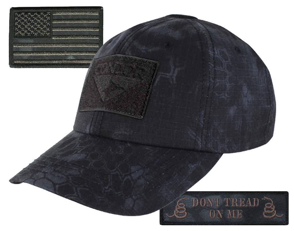 Condor Kryptek Typhon Camouflage Tactical Cap & Typhon Patches Bundle