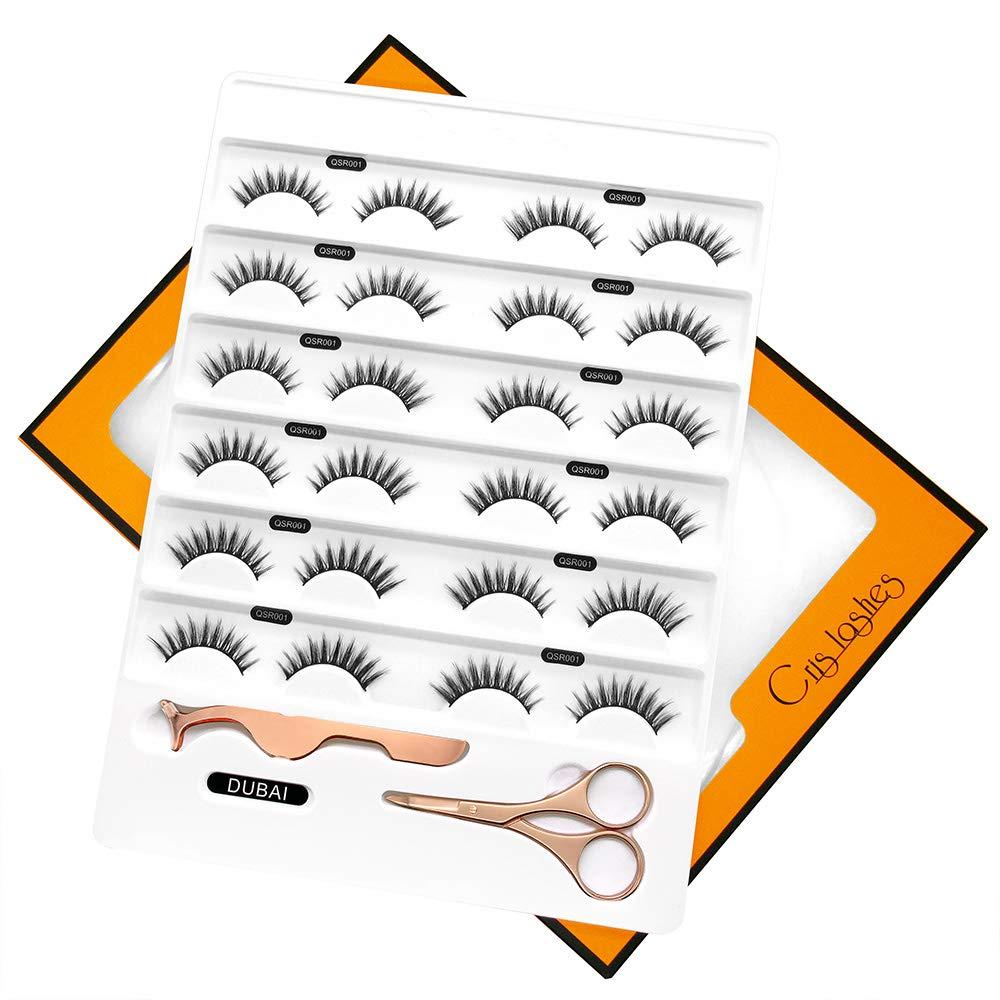 Faux Mink Lashes 3D Individual Faux Natural False Eyelashes 12 Pairs Bulk Handmade DUBAI QSR001