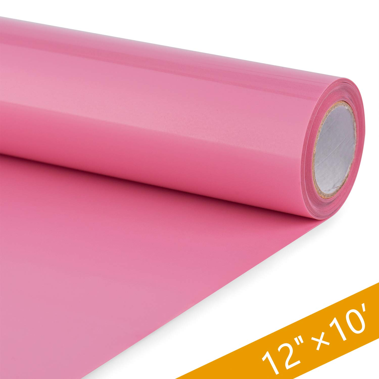 HENPISEN HTV Vinyl Rolls - 12 Inch × 10 Feet PU Heat Transfer Vinyl, Easy Cut & Weed Compatible with Cameo Silhouette & Cricut, Iron on Vinyl for DIY T-Shirts, Bags and Other Textiles(Neon Pink)