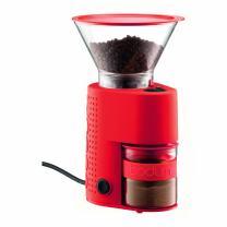 Bodum BISTRO Burr Grinder, Electronic Coffee Grinder with Continuously Adjustable Grind, Red