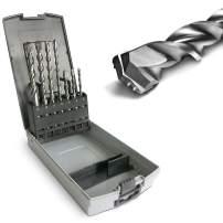 S&R SDS-4-Plus Hammer Drill Bit Set 7 Pcs. MADE IN GERMANY: For Concrete, Masonry, Stone, Granite - Masonry Drill Bits/Wall Drill Bits