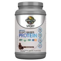 Garden Of Life Sport Organic Plant-Based Protein - BCAA Amino Acid Protein Powder, Chocolate 29.6oz (1lb 14oz / 840g) Powder