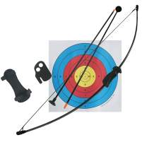 D&Q Archery Bow and Arrows Set Recurve Bow Outdoor Sports Toy Games with 2 Replacement Suction Cup Arrows and Target Sheets 20LB for Beginner Teens