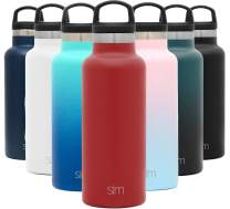 Simple Modern 17oz Ascent Water Bottle - Stainless Steel Flask w/Handle Lid - Red Hydro Double Wall Tumbler Vacuum Insulated White Small Reusable Metal Leakproof -Cherry