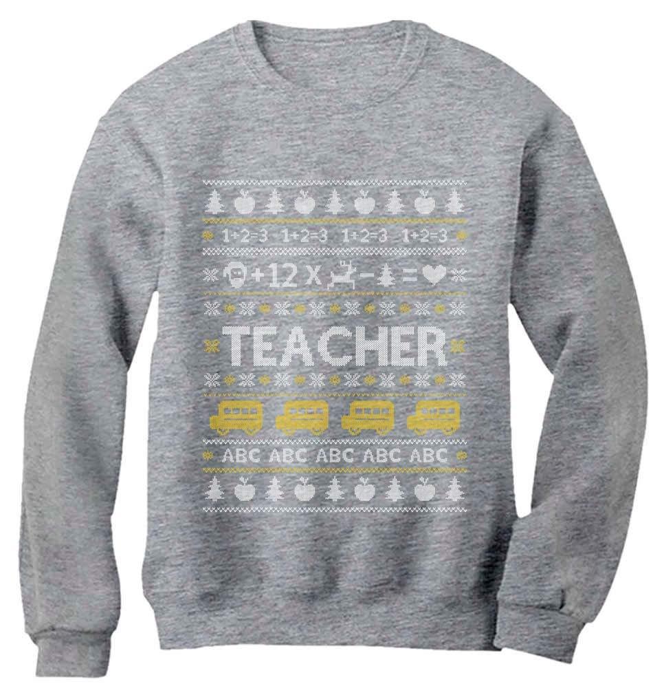 Teacher Ugly Christmas Sweater Funny Xmas Gift for Teachers Women Sweatshirt