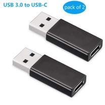 USB C to USB 3.0 Adapter(2-Pack),Amicable Type C 3.1 Female to USB 3.0 Male Converter Connector Adapter for USB C to USB C Cable/USB C SDD, PC, Laptop,Google Pixel, Nexus 5X, 6P, Lumia 950, XL, Onep