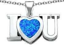 Star K Sterling Silver 8mm Heart Shape I Love You Heart Pendant Necklace