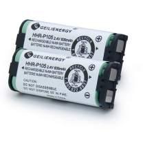 GEILIENERGY HHR-P105 Battery Compatible for Panasonic HHRP105A HHR-P105B KX242 KX-242 KX2420 KX-2420 KX2421 KX-2421 KX2422 KX-2422 KXTG5779 91AAALH2BXZ(Type 31) BATT105 BATT-105 Cordless phone(2 Pack)