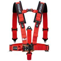Kyostar 5 Points Safety Harness Set with Ultra Comfort Heavy Duty Shoulder Pads(1 Pack-Red)