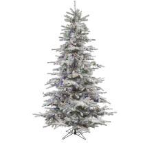 "Vickerman A861877LED Unlit Redmond Spruce Artificial Christmas Tree, 7.5' x 52"""