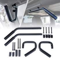 Xprite Black Front & Rear Steel Grab Bar Handle Kit for 2007 - 2018 Jeep Wrangler JK