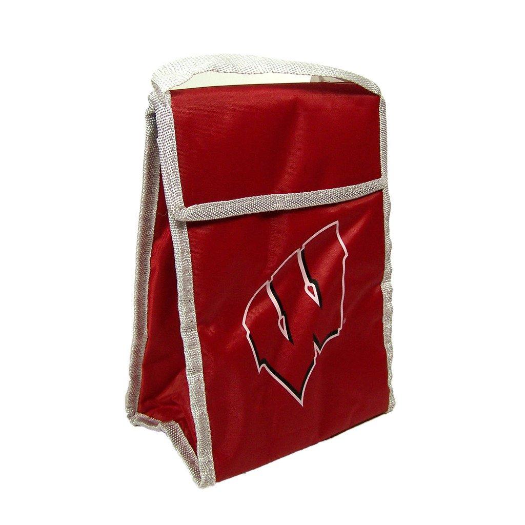 FOCO NCAA Wisconsin Badgers Big Logo Lunch Bag, Red