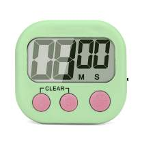 SK Depot Digital Kitchen Timer, Cooking Timers, Simple Operation, Large Display, Loud Alarm, Magnetic Backing Stand, Minute Seconds Count Up Countdown for Kids Games School Teacher Office(Green)