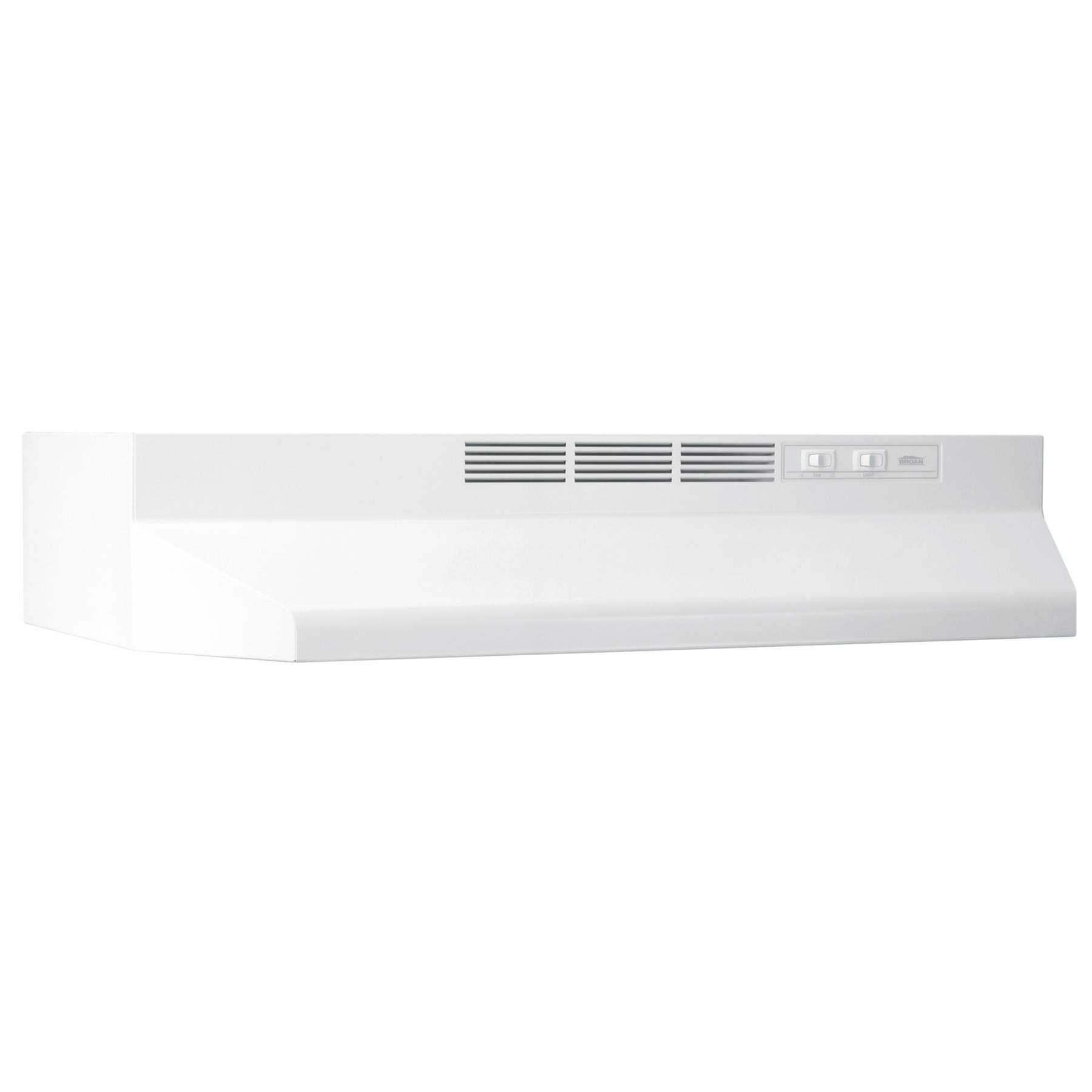 Broan-NuTone BUEZ136WW Non-Ducted Ductless Range Hood with Lights Exhaust Fan for Under Cabinet, 36-Inch, White
