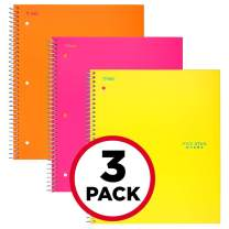 """Five Star Spiral Notebooks, 5 Subject, College Ruled Paper, 200 Sheets, 11"""" x 8-1/2"""", Orange, Pink, Yellow, 3 Pack (38449)"""