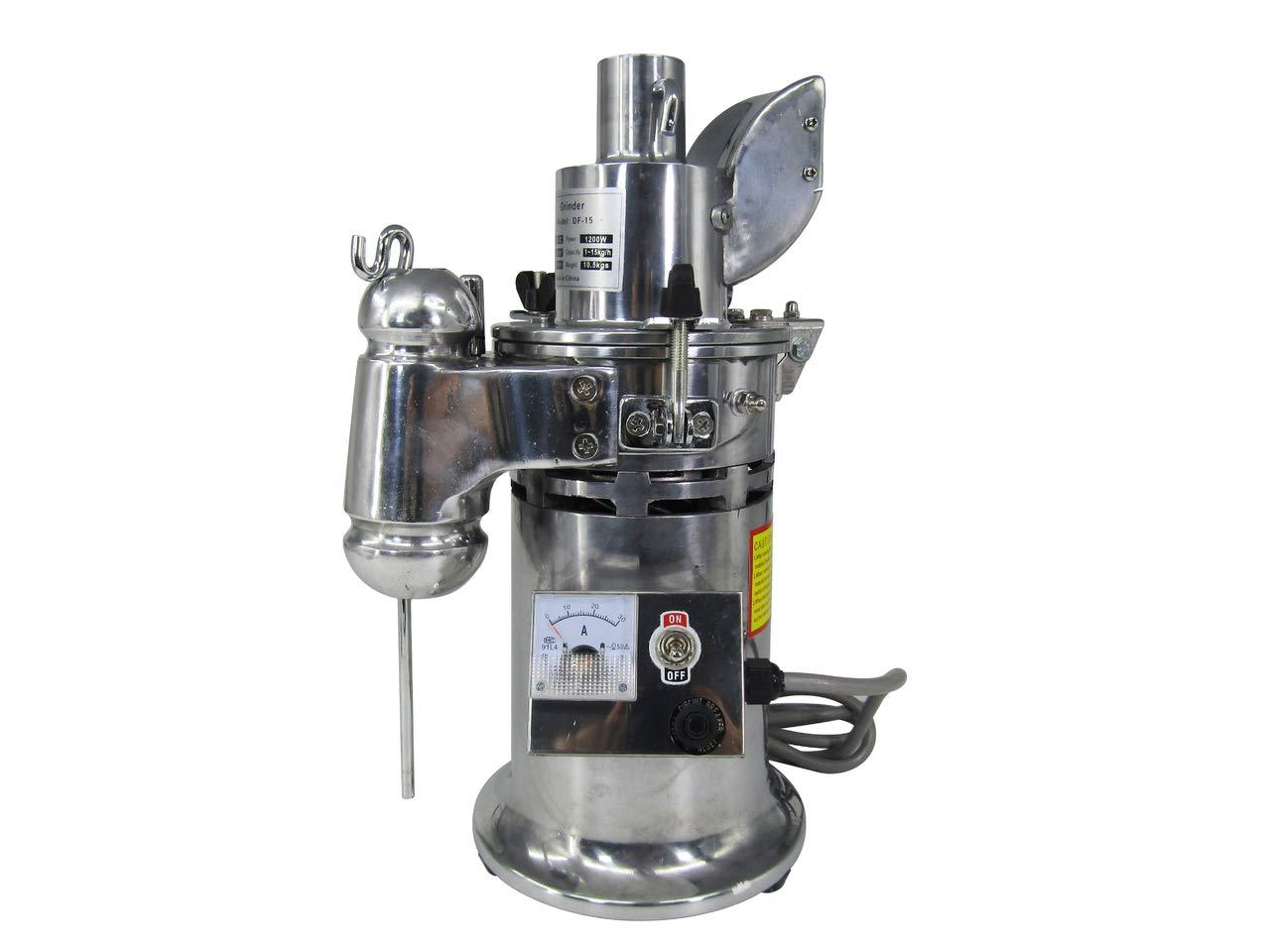 JIAWANSHUN Commercial Grain Grinder Automatic Mill Herb Grinder Medicial Powder Grinding Machine 15kg (220V)