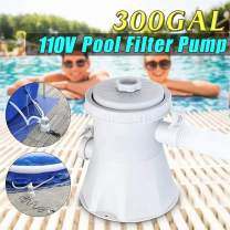 KANGMOON Pool Replacement Cartridge Filter Pump for Above Ground & Inground Pools, 110-240V 330 GPH Pump Flow Rate Swimming Pool Filter Pump for 100-350GAL Pools (Pump+Fillter, 1 Set)