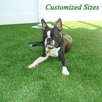 Premium 1.38in Pile Height Artificial Grass, Realistic and Thick Fake Faux Grass Mat, Outdoor Garden Dogs Pet Synthetic Grass, Carpet Doormat Rubber Backed with Drainage Holes 3FT x5FT/15 Square FT