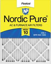 Nordic Pure 20x24x1 MERV 10 Pleated AC Furnace Air Filters 12 Pack