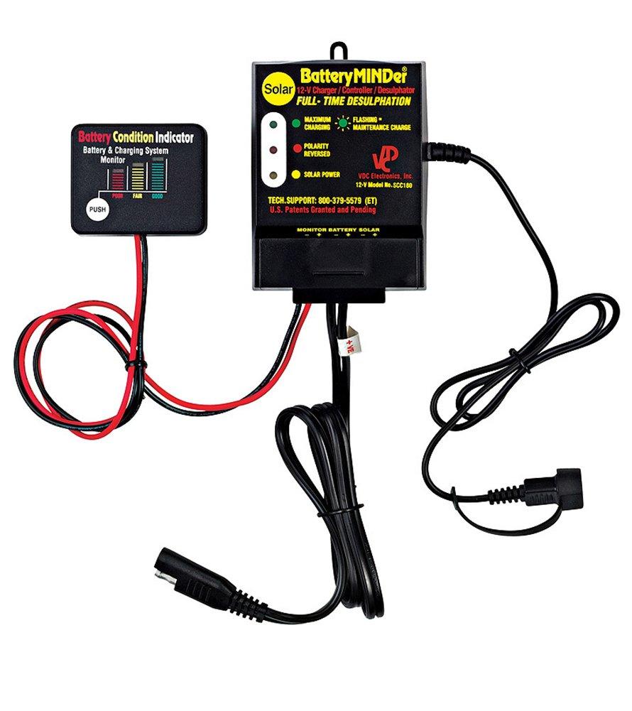 BatteryMINDer SCC-180 12-V, 16 Amp, 180-Watt Solar Battery Charger/Maintainer/Desulfator - Designed for Cars, Trucks, Motorcycles, ATV, Boat, RV, etc.
