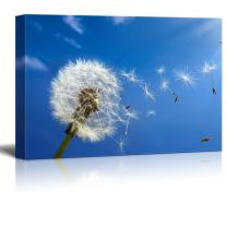 "wall26 - Canvas Prints Wall Art - Dandelion Blowing in The Wind | Modern Wall Decor/Home Decoration Stretched Gallery Canvas Wrap Giclee Print. Ready to Hang - 32"" x 48"""
