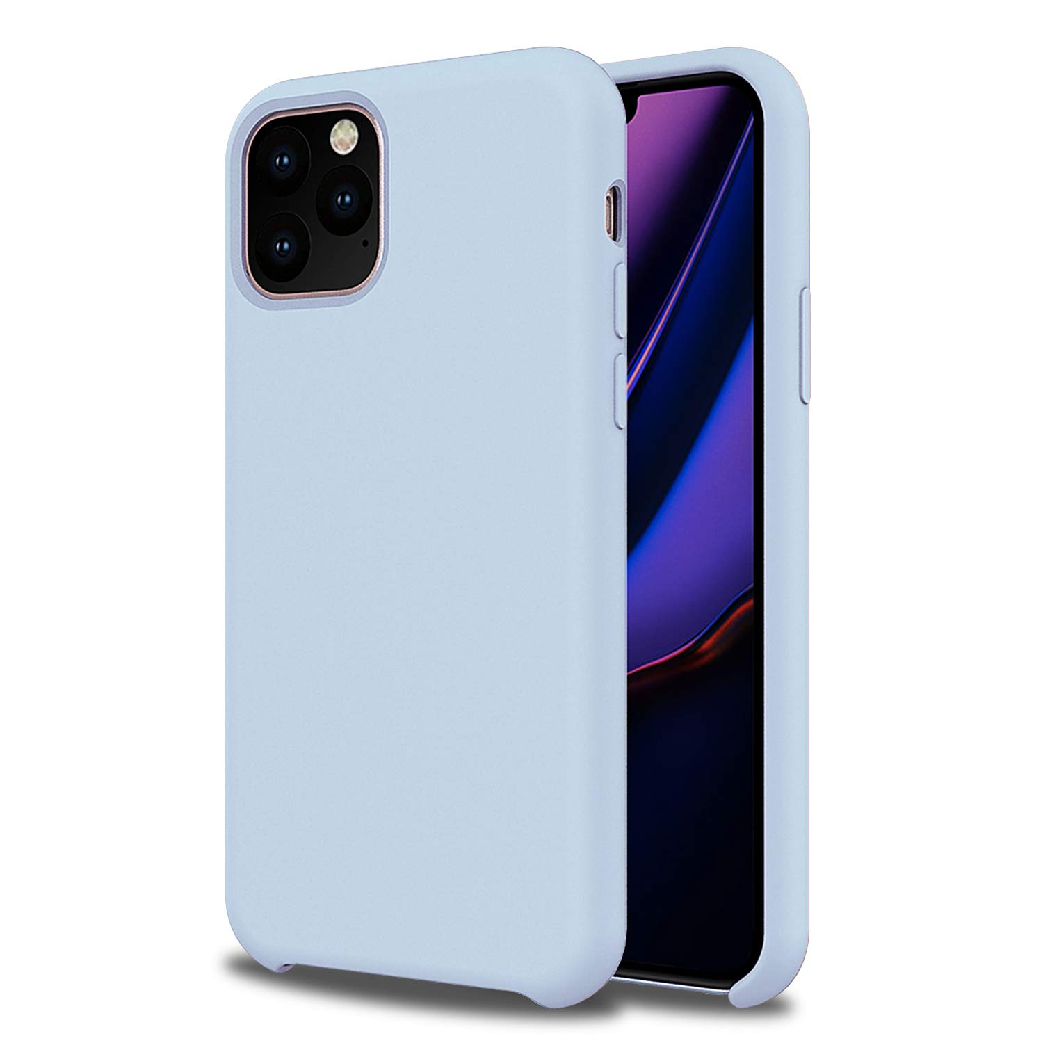 Olixar for iPhone 11 Pro Silicone Case - Soft Touch - Smooth Thin Protective Cover - Wireless Charging Compatible - Pastel Blue