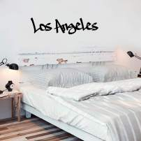 "Vinyl Wall Art Decal - Los Angeles - 22"" x 60"" - Cool Graffiti Design Modern Urban USA Country West Coast City Home Bedroom Living Room Mural Indoor Outdoor Decoration Adhesive"