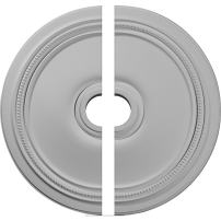 "Ekena Millwork CM24DI2 Diane Ceiling Medallion, 24""OD x 3 5/8""ID x 1 1/4""P (Fits Canopies up to 6 1/4""), Factory Primed White"