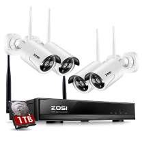 ZOSI Wireless Security Camera System with 1TB Hard Drive, 1080P HD NVR with 4PCS 960P Outdoor/Indoor WiFi Surveillance Cameras with 100ft Night Vision, Weatherproof, Motion Detection, Remote Access