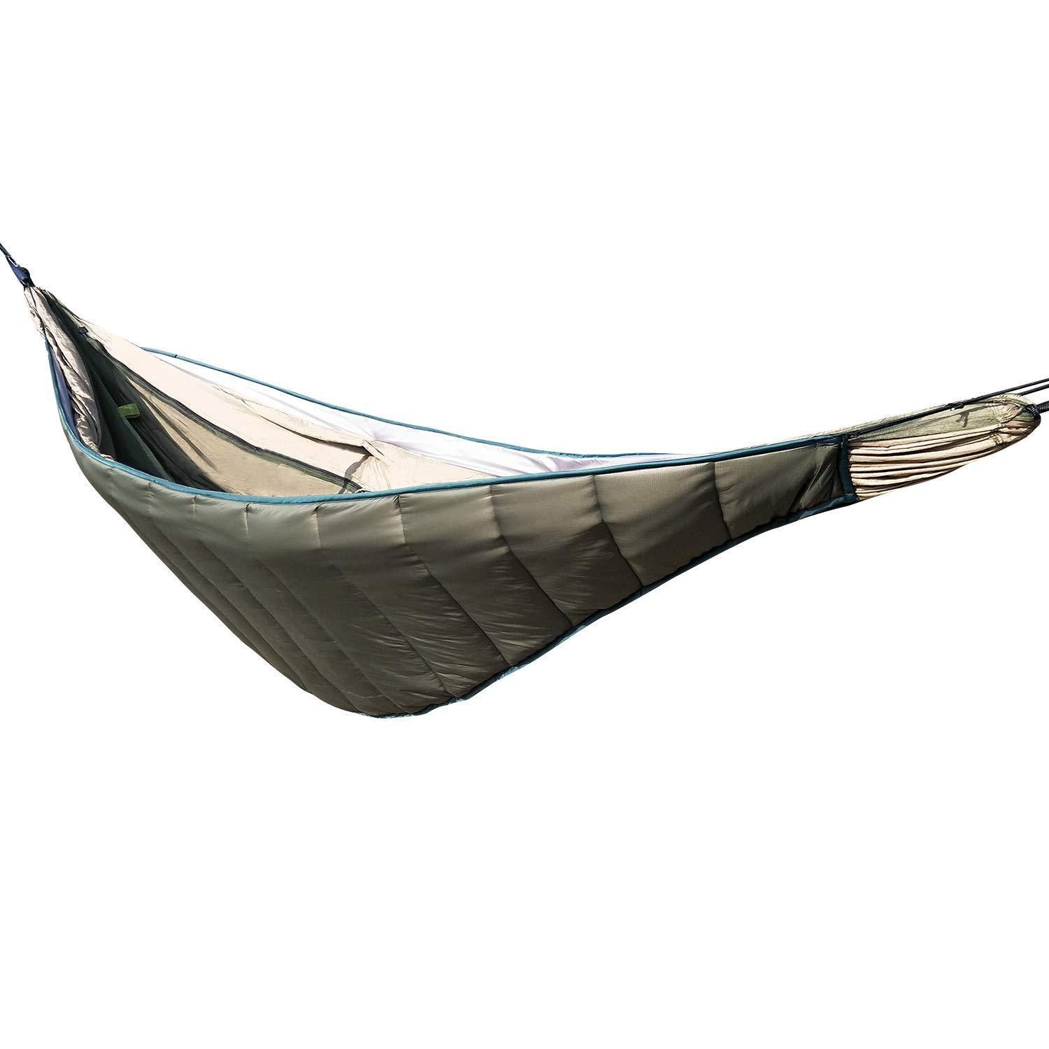 REDCAMP Hammock Underquilt Lightweight, Water Repellency 3 Seasons Warm Hammock Sleeping Bag with Compression Sack Packable for Outdoor Camping Hiking, Green