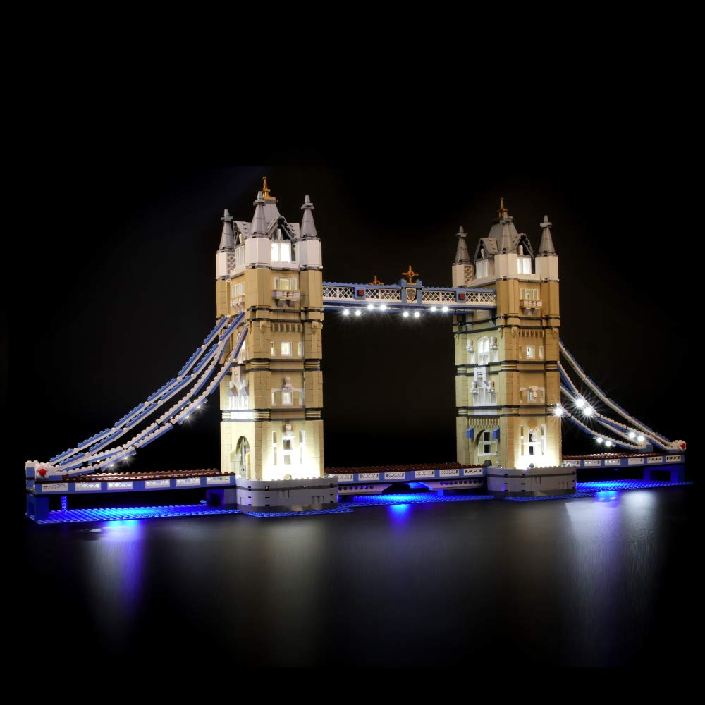 BRIKSMAX Led Lighting Kit for London Tower Bridge-Compatible with Lego 10214 Building Blocks Model- Not Include The Lego Set