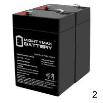 ML4-6 - 6 VOLT 4.5 AH SLA BATTERY - 2 PACK - Mighty Max Battery brand product