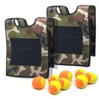 TOPRADE Stick Ball Vest Dodge Ball Game Sticky Target Ball Vest Outdoor Game Props with Soft Fleece Balls Safe for Kids Children
