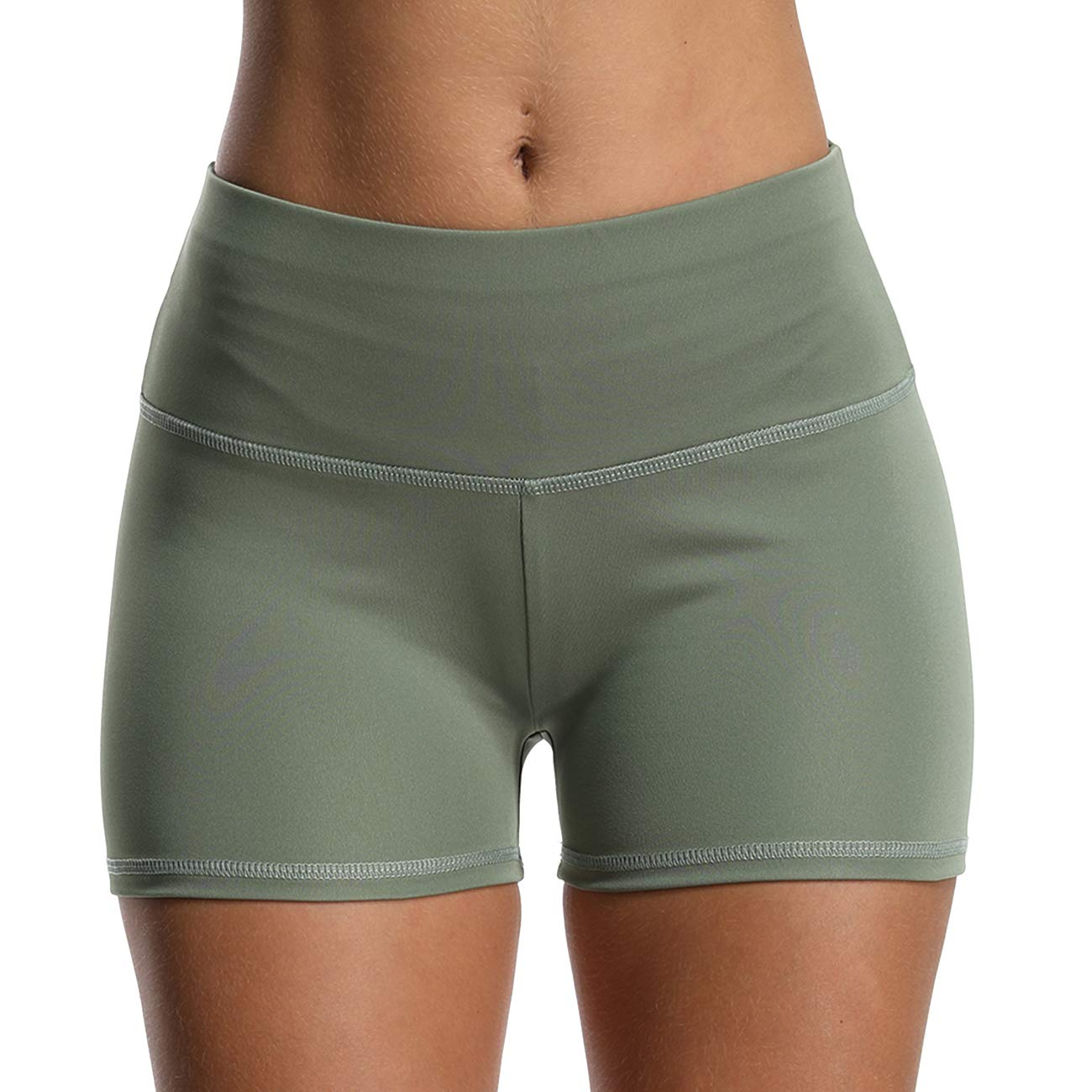 High Waist Compression Ruched Butt Lift Textured Workout Yoga Shorts for Women