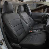 EKR Custom Fit Full Set Car Seat Covers for Select Toyota 4Runner 2011-2020 (3-Row Model) - Leatherette (Black)