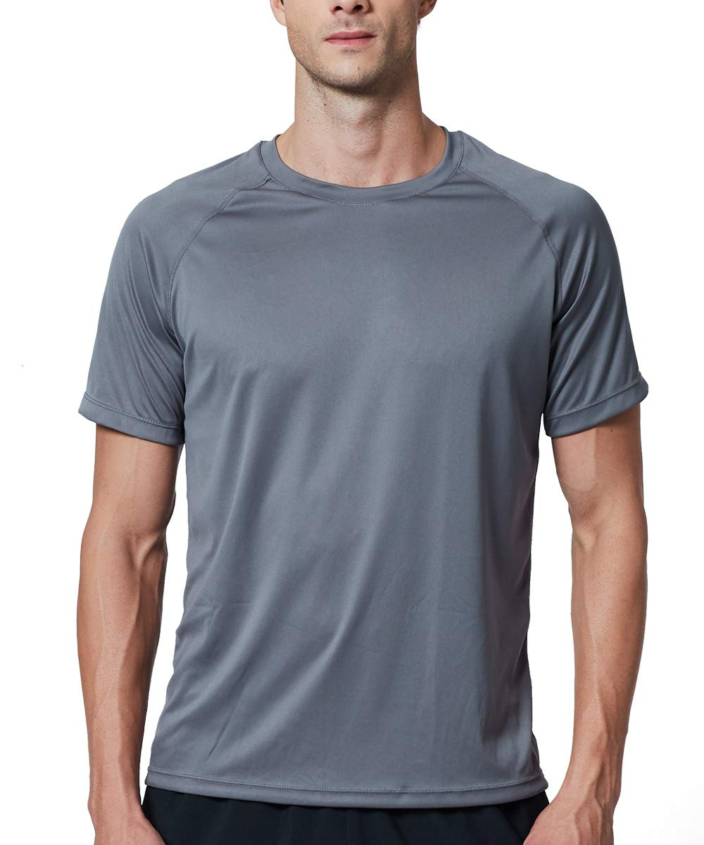 EXIO Mens Short Sleeve T-Shirt Athletic Cool & Dry Running Top EX-TR03