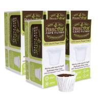 Cafe-Filter Cups by Perfect Pod | Disposable Paper Coffee Filters for Single-Serve Reusable K-Cups Pod Capsule (500-Ct)