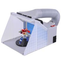 AW Light Portable Airbrush Spray Booth w/LED Lighting 5.6' Hose for Painting Art Cake Craft Nails T-Shirts