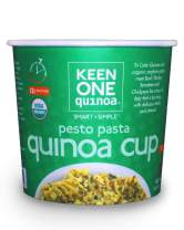 Keen One Quinoa Pesto Pasta - Delicious Royal Organic Quinoa with Basil, Parseley, and Tomatoes {Pack of 6 Cups}