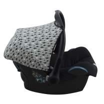 JANABEBE Hood Canopy Compatible with Maxi COSI Cabriofix, Pebble (Black Rayo)
