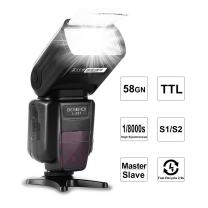 Beschoi E-TTL Speedlite Flash Professional Camera Flash with Master/Slave Wireless Control, High Speed Sync Compatible with Canon DSLR Camera
