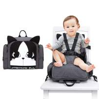 Hoomall Travel Booster Seat, 3 in 1 Diaper Bag Backpack Multifunction Toddler Booster Seat for Dining Table