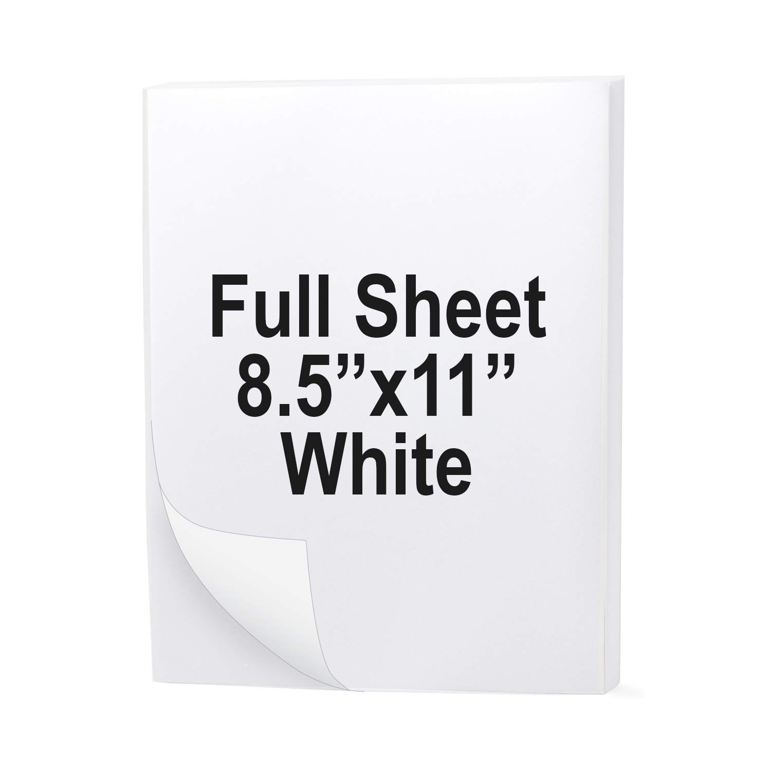 """Buhbo Full Sheet Address Shipping Label 8.5"""" x 11"""" Sticker Labels for Laser & Ink Jet Printers (100 Sheets)"""