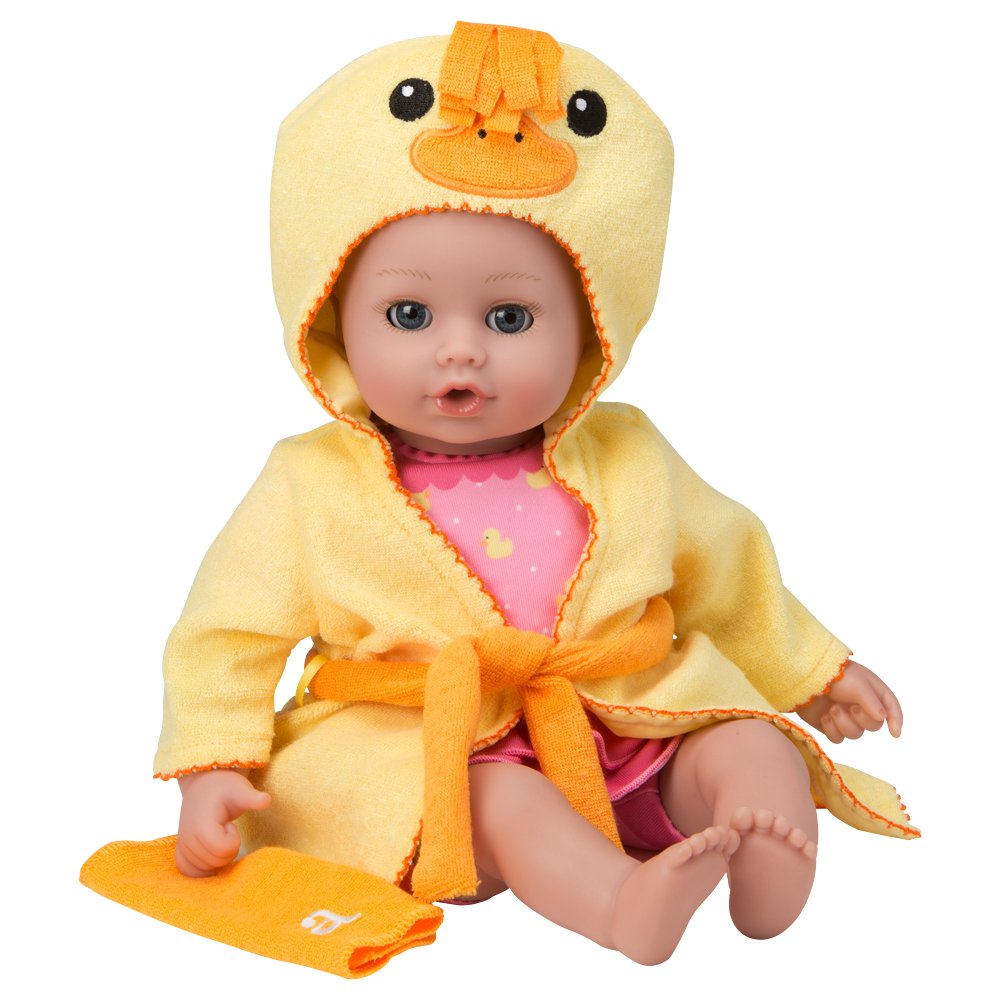 """Adora BathTime Baby """"Ducky"""" 13"""" Fun Kids BathTub Water / Shower / Swimming Pool Time Play Soft Cuddly Toy Play Doll for Toddler Kids & Children 1+"""