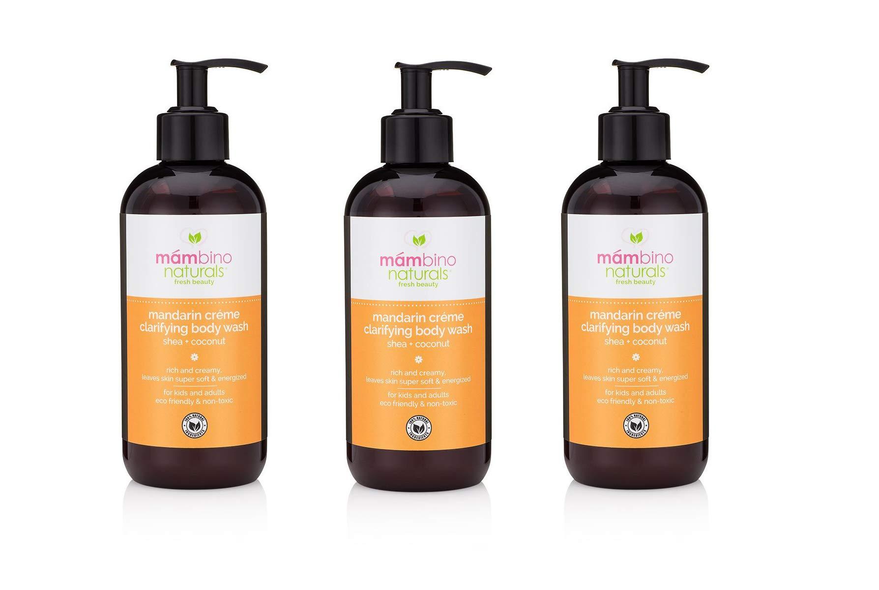 Mambino Organics Mandarin Creme Clarifying Body Wash, Shea + Coconut, 12 Fluid Ounces, 3 Pack (15% Off)